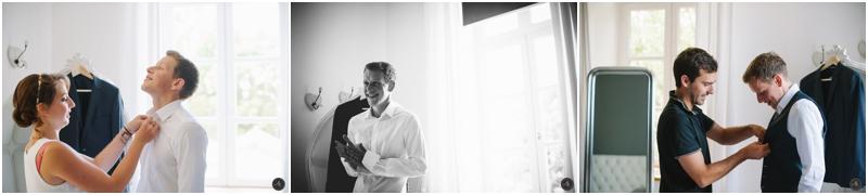 Photographe mariage préparatif Homme